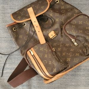 Authentic Louis Vuitton Brown Signature Backpack
